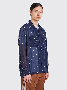 Needles Cut-Off Bottom Classic Shirt Navy