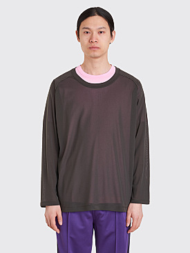 Needles U-Neck LS T-Shirt Olive Green