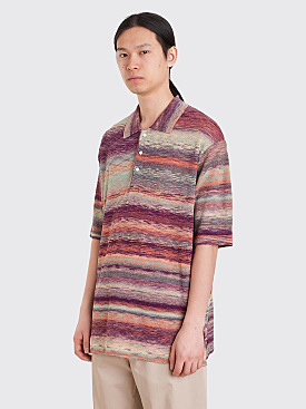Needles Splashed Pattern Polo T-Shirt Multi Color