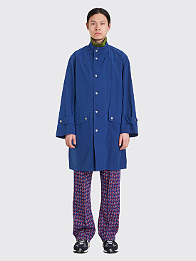 Needles Banded Collar Ripstop Coat Blue