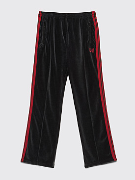 Needles Narrow Velour Track Pants Charcoal