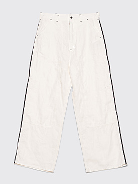 Needles Side Line Painter Pant White