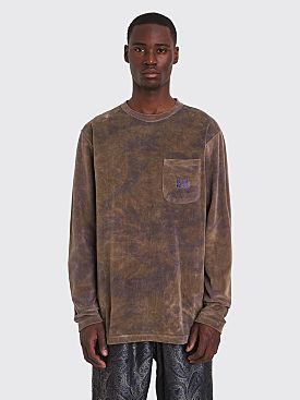 Needles LS Crew Neck T-shirt Dye Olive