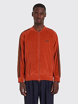 Needles Rib Collar Velour Track Jacket Brick