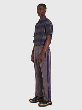 Needles Narrow Track Pants Velour Grey
