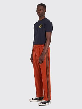 Needles Narrow Track Pants Velour Brick