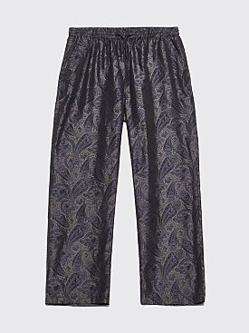 Needles Easy Pants Jacquard Paisley Charcoal