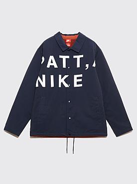 NikeLab x Patta Coach Jacket Dark Obsidian