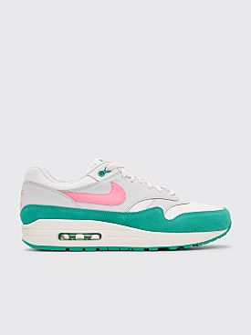 Nike Air Max 1 Summit White / Sunset Pulse / Kinetic Green