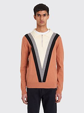 Noon Goons Half Zip Polo Sweater Camel