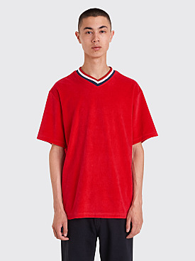 Noon Goons LBC Velour V-Neck T-shirt Red