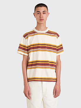Noon Goons Surfer T-shirt Stripe Cream