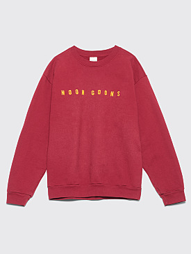 Noon Goons Is Gold Sweater Burgundy