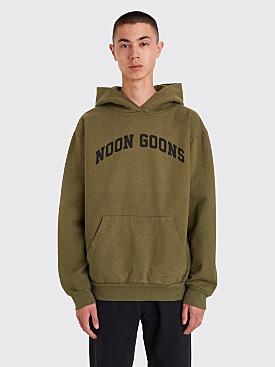 Noon Goons Varsity Hooded Sweatshirt Army Green