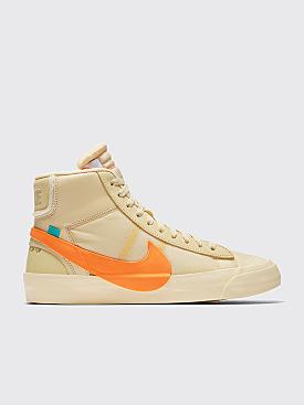 Nike x Off-White The 10: Blazer Mid Canvas / Total Orange / Pale Vanilla