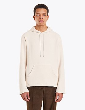 Our Legacy Flat Hooded Sweatshirt Chunky Waffle White