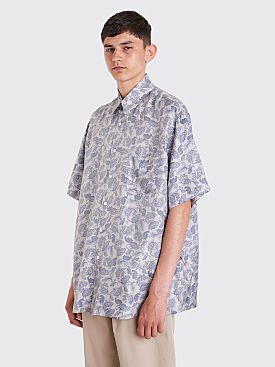 Our Legacy Borrowed Shirt Sun Blue Paisley