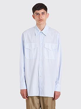 Our Legacy Xplor Shirt Light Blue Poplin