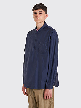 Our Legacy Shawl Zip Shirt Blue Nylon