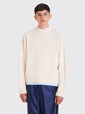 Our Legacy Sonar Roundneck Sweater White
