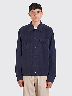 Our Legacy P.X. Shirt Blue Cupro