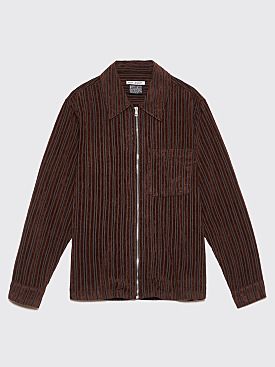 Our Legacy Drip Shirt Multi Brown Corduroy