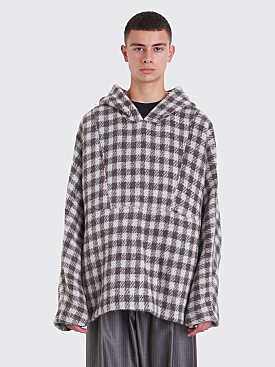 Our Legacy 90s Festival Parka Alpaca Blanket Checkered Grey