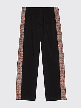 Our Legacy Pleated Pants Accordion Tape Black