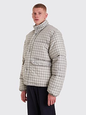 Our Legacy Lenox Check Print Jacket Grey