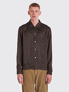 Our Legacy P.X. Evening Shirt Stripe Brown