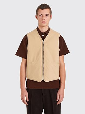Our Legacy Zip Tail Vest Beige