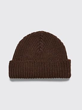 Our Legacy Classic Knit Hat Dark Clay