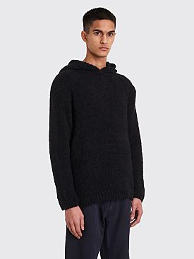 Our Legacy Knit Hoodie Towel Black