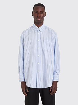 Our Legacy Less Borrowed Shirt Irregular Stripe Blue
