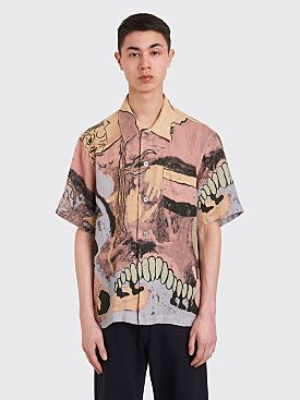 Our Legacy Box Shirt Acid Landscape Print Linen