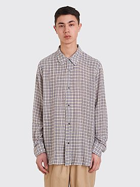 Our Legacy Fine Frontier Shirt Net Check Blue / White