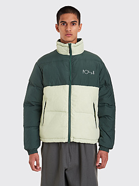 Polar Skate Co. Combo Puffer Jacket Green / Sea Foam