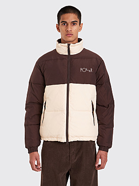 Polar Skate Co. Combo Puffer Jacket Brown / Cream