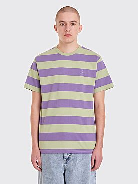 Polar Skate Co. 91 Stripe T-Shirt Sage Lilac