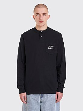 Polar Skate Co. Train Banks Henley LS T-Shirt Black