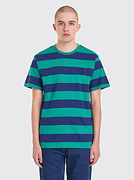 Polar Skate Co. 91 Stripe T-Shirt  Green Navy