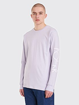 Polar Skate Co. Script Logo LS T-Shirt Dusty Lavender