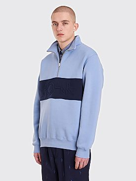 Polar Skate Co. Block Zip Sweatshirt Dusty Blue