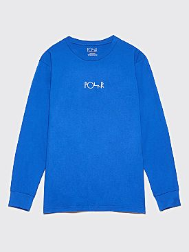 Polar Skate Co. Beast Mode LS T-Shirt 80s Blue