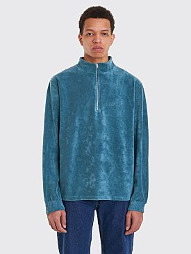 Polar Skate Co. Terry Half Zip Sweatshirt Teal