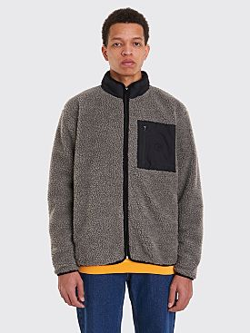 Polar Skate Co. Teddy Fleece Jacket Grey