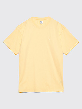 Polar Skate Co. Happy Sad Garment Dyed T-Shirt Light Yellow