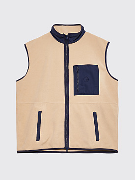 Polar Skate Co. Stenström Fleece Vest Sand / Navy