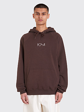 Polar Skate Co. Default Hooded Sweatshirt Brown