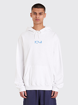 Polar Skate Co. Orchid Fill Logo Hooded Sweatshirt White